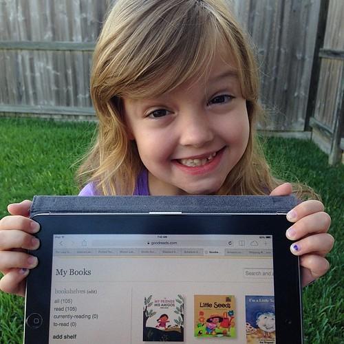 179:365 This kid!! She has read 105 books so far this summer.