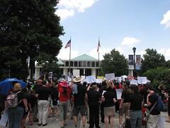 Teachers Gathered at the North Carolina State Legislative Building