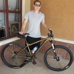 Danny S. w/ his new @konabikes Taro all mtn Hardtail. #allmountain #mtb #cycling