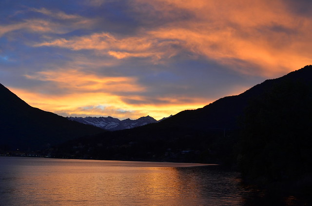 Sunset over Lake Mergozzo