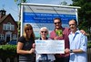 Totally Locally Teddington World Cup cheque handover