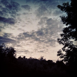 Cool sky! #sky #clouds #summer #newhampshire #newengland #trees