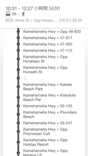 bus stop info #2/3, The Bus #55