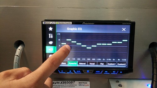 Graphic Equilizer ของ Pioneer AVH-X8650BT