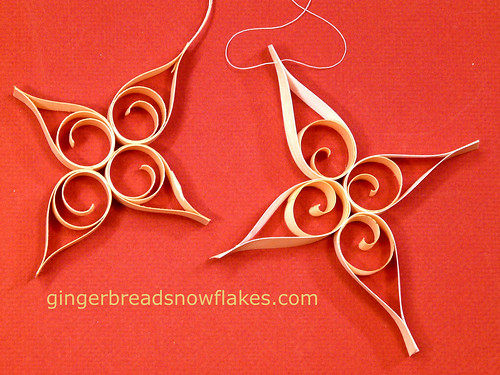 Shaved Wood Curls and BARC Wood Veneer Paper make lovely Classic and Contemporary Old World Themed Ornaments