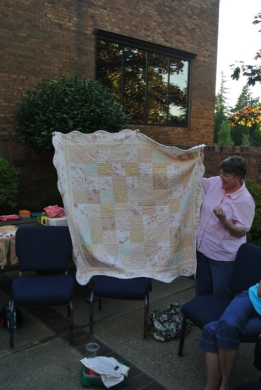 Kathy's hand embroidery quilt