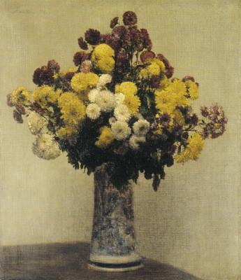 ラトゥール《花瓶のキク》