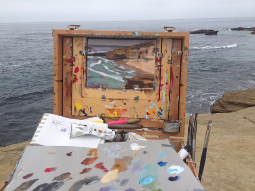 Painting in la jolla