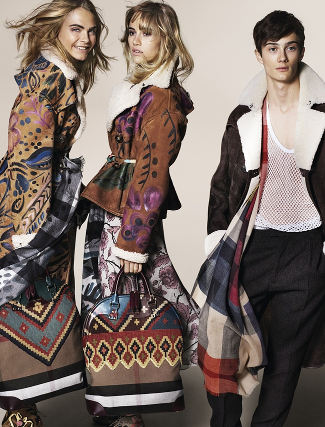 1 Cara Delevingne, Suki Waterhouse and Oli Green featuring in the Burberry Autumn_Winter 2014 Campaign
