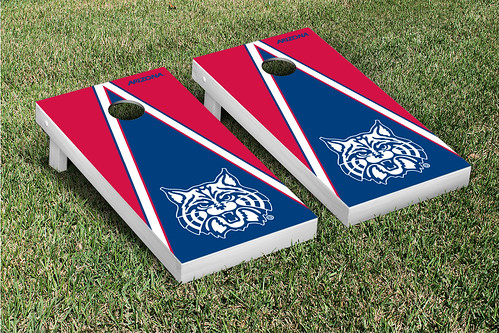 Arizona Wildcats Cornhole Game Set Triangle