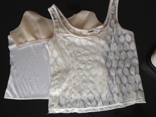 Polka Dot a Lace Tank - In Progress