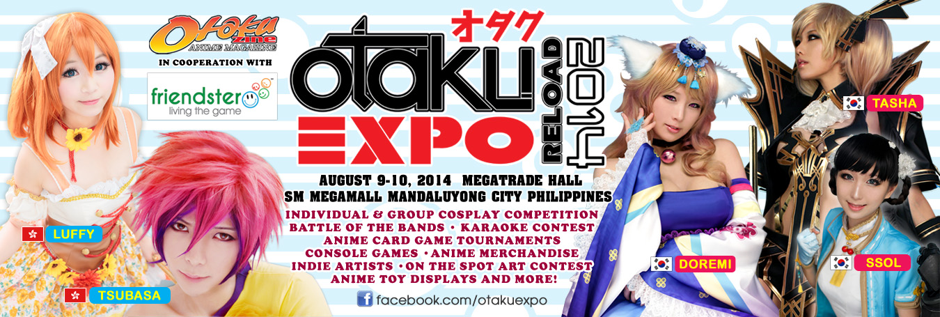 Otaku Expo Reload Welcomes Back SPCats, Invites Luffy and Tsubasa