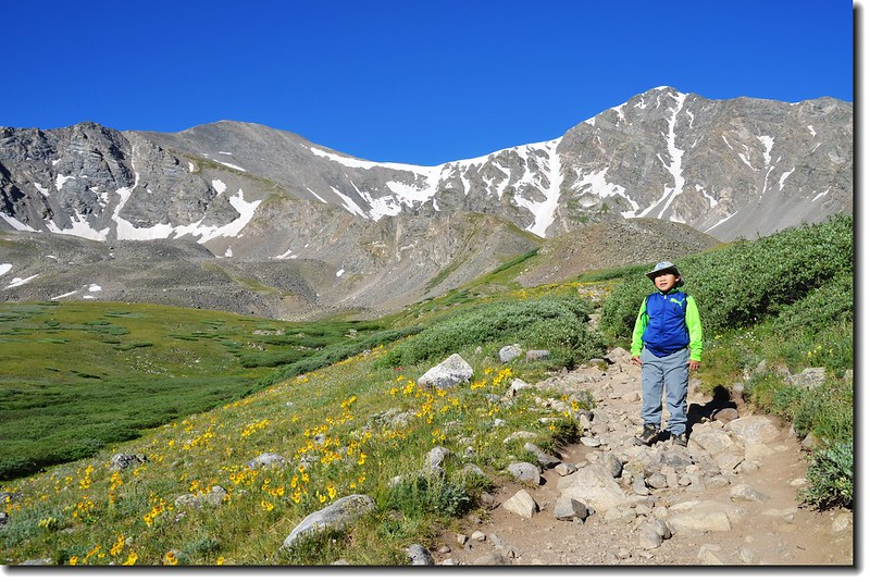 Jacob is on his way to Grays Peak 2