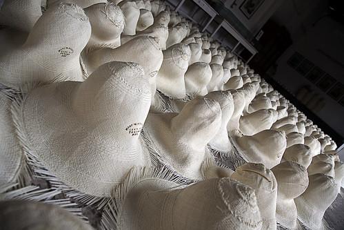 Panama hats at the Homero Ortega factory in Cuenca