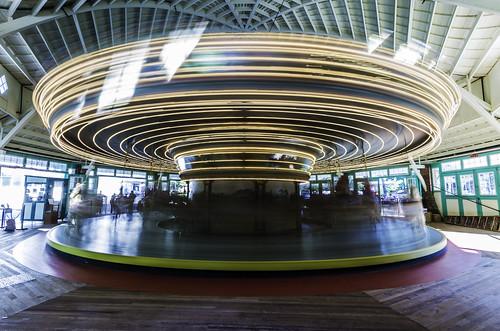 Dentzel Carousel in Motion by Geoff Livingston