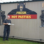 Fred FINALLY getting to try a pastie!