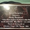 Johnston Chapel gave me this awesome plaque with  CS Lewis quote as a thank you for preaching revival. Awesome