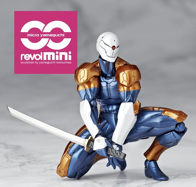 海洋堂 迷你輪轉可動 (rm-005) 《潛龍諜影》機械忍者「Gray Fox」