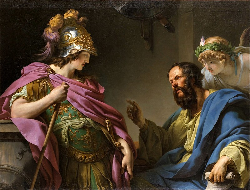 François-André Vincent - Alcibades being taught by Socrates (c.1776)