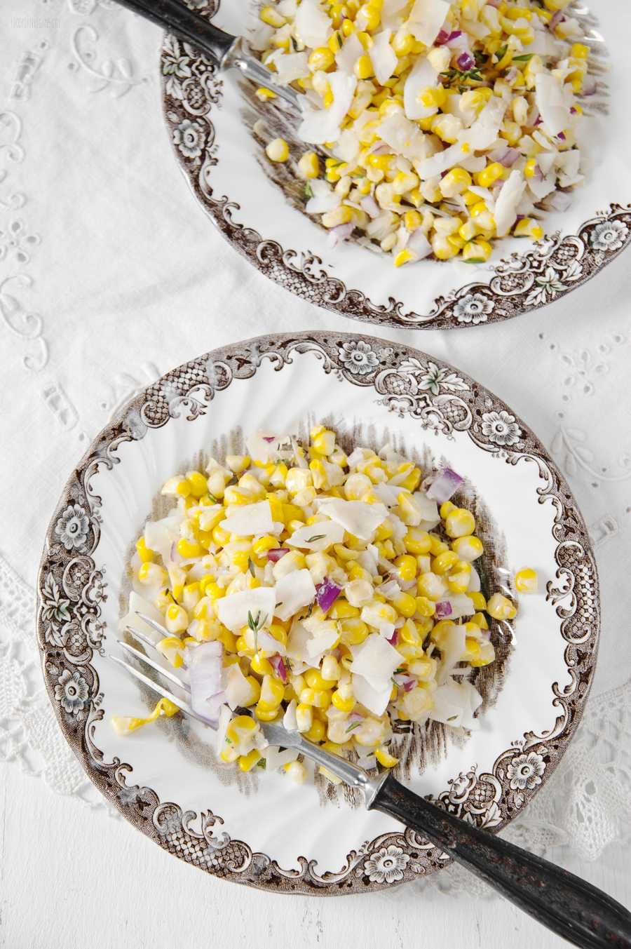 Sweetcorn salad with coconut & thyme