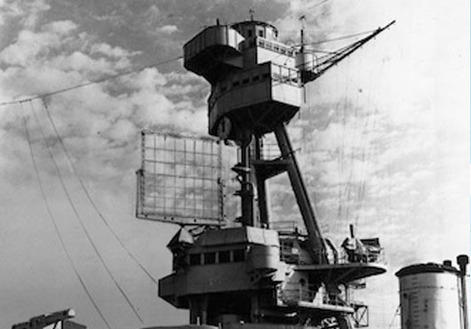 XAF radar set on the battleship New York