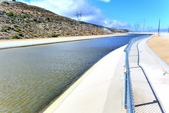 Fence along the California Aqueduct