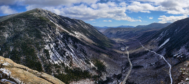 a view from mt willard, new hampshire