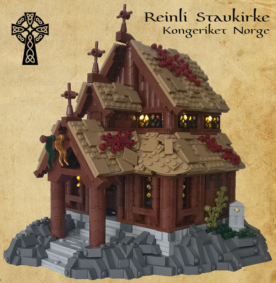 Reinli Stavkirke (custom built Lego model)