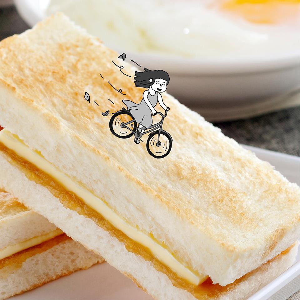 Life should be filled with exhilarating moments, like cycling down the slope of Traditional Kaya Toast Hill.-取自Toast Box Singapore