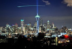 The Nighttime City:  Seattle Skyline From Kerry Park