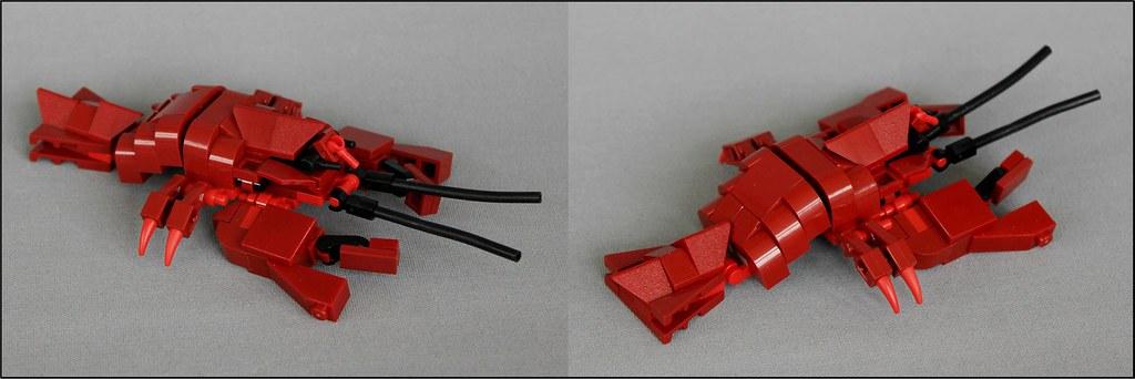 Lobster Dinner – Details (custom built Lego model)