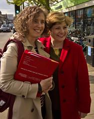 Cllr Anna Smith (Lab - Romsey) with Emily Thornberry MP. 22 Apr 2017