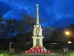 Builth Wells War Memorial.