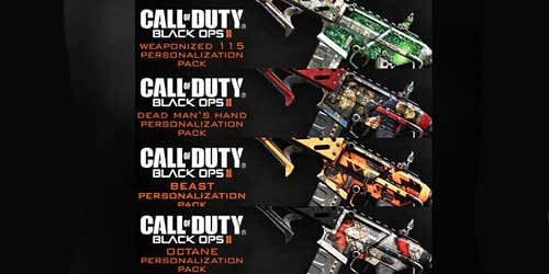 4 Personalization Packs for Black Ops 2 coming to PS3 out tomorrow