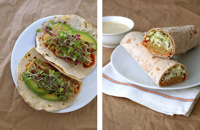 SPICY LENTIL & QUINOA WRAPS + SPICY TAHINI SAUCE - THE SIMPLE ...