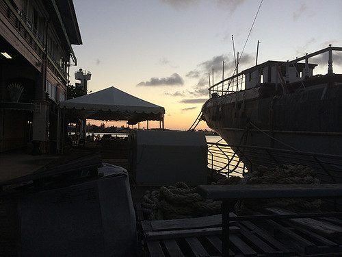 sunset at the ship