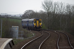 156445 leaves Stewarton working 1A14 Glasgow central - Girval via Kilmarnock 12/04/14...
