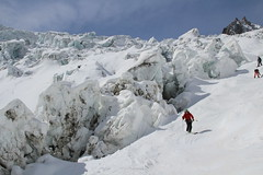 Spring snow, big Seracs and CRevasses