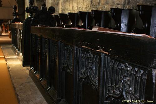 Medieval choir stall, St Paul's Jarrow