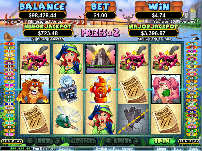 free Monster Mayhem slot bonus feature