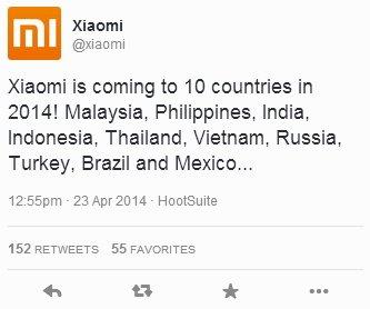 Смартфоны Xiaomi в России