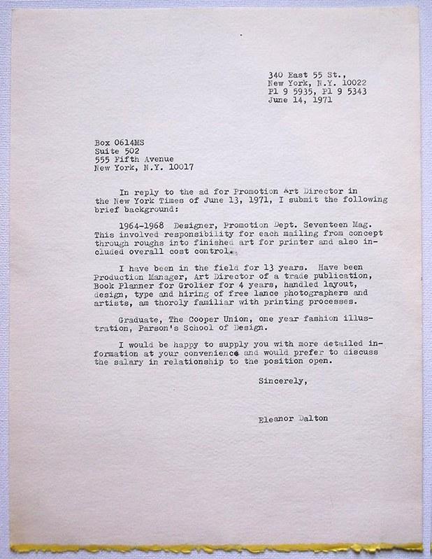 cover letter art museum