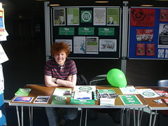 Scottish Greens stall at the University of Stirling, April 2014