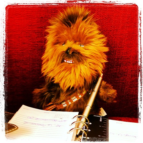 #fflovephotoaday - Day 25: LOL. Chewbacca is very busy today