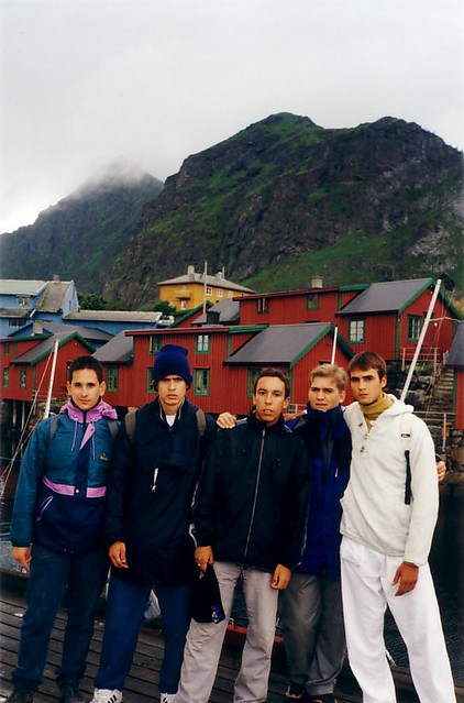 El grupo del interrail 2001 en las Islas Lofoten (Noruega)