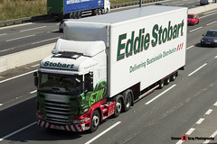 Scania R440 6x2 Tractor with 3 Axle Box Trailer - PN12 YHT - Charlotte Mae - Eddie Stobart - M1 J10 Luton - Steven Gray - IMG_7890