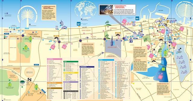 杜拜 觀光地圖1