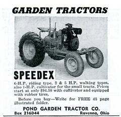 1941 Pond Garden Tractor Speedex Advertisement Popular Mechanics April 1941
