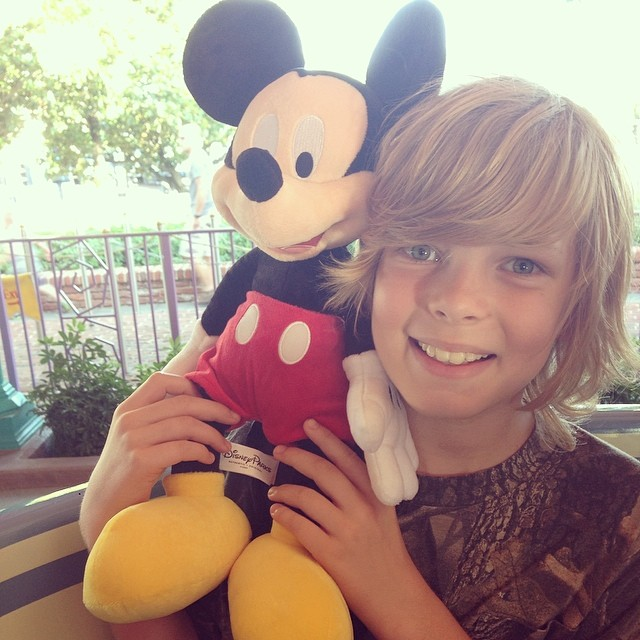 Joshua has a new friend. #Mickey @wawaprice