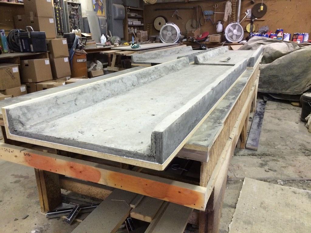 Gfrc Concrete Countertops. Poured Upside Downu2026ready To Flip U0026 Polish Them. # Concrete #concretecountertops #countertops